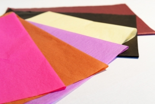 Coloured tissue in a huge range of colours and shades