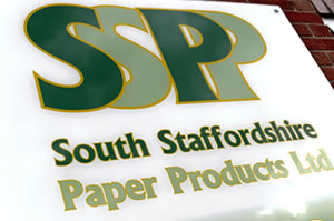South Staffordshire Paper Products Ltd Signage